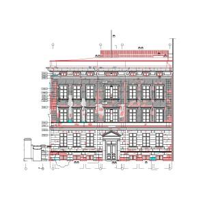 Kartierung der Fassade vom Kommandantenhaus Berlin